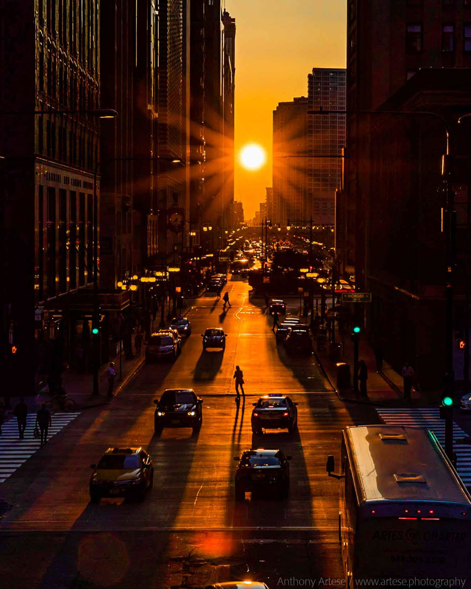 Chicago henge : l\'équinoxe dans une ville d\'alignements