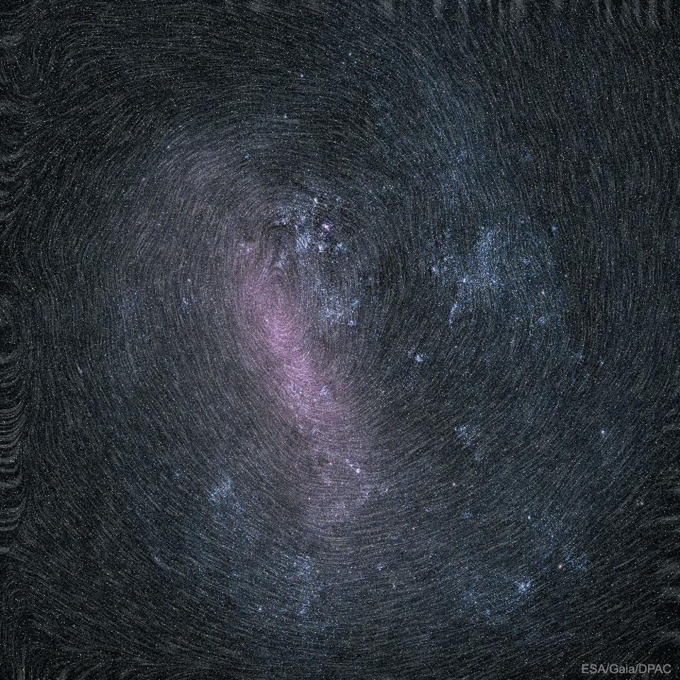 La rotation du Grand Nuage de Magellan