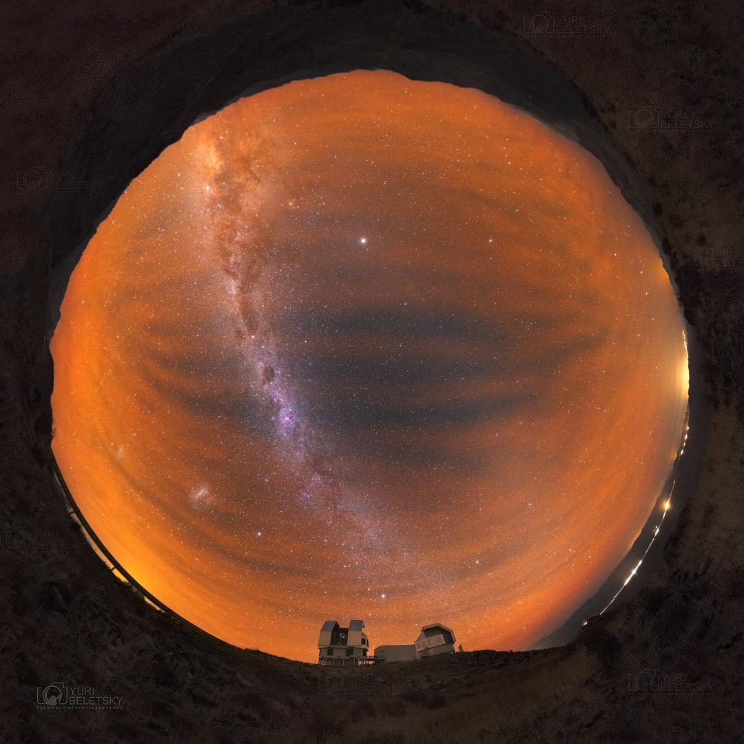 Voie Lactée et luminescence australe
