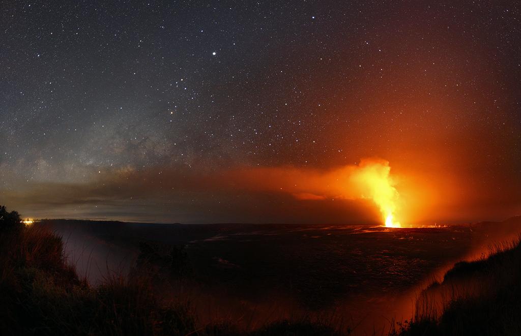 Jupiter dans le ciel hawaïen
