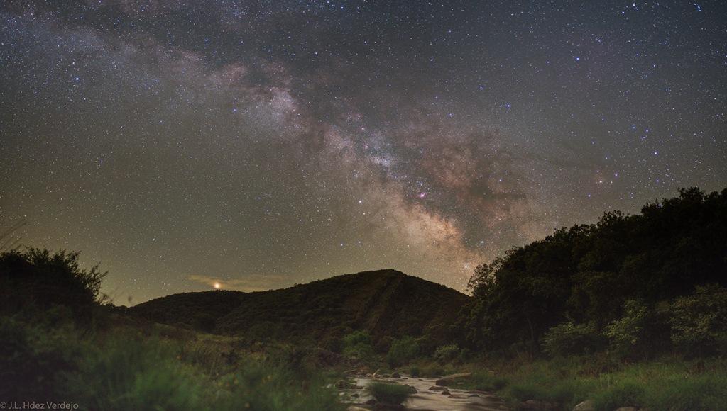 La campagne, Mars et la Voie Lactée
