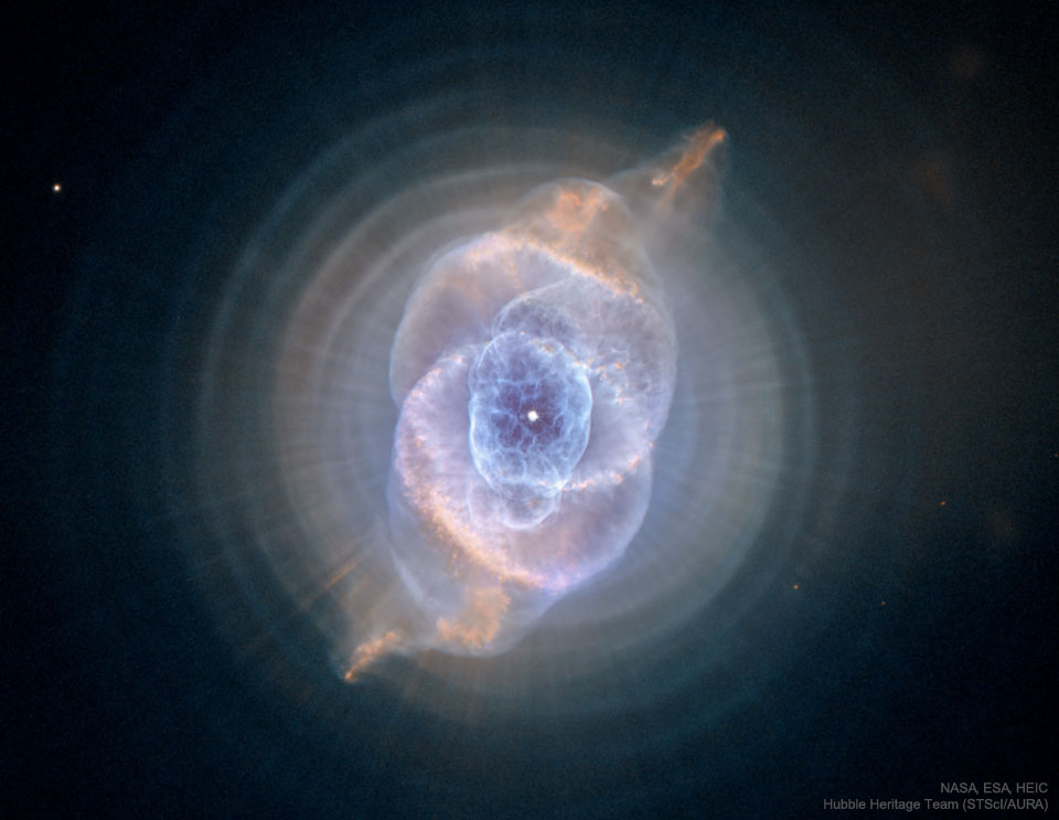 La nébuleuse de l\'Oeil de Chat vue par Hubble