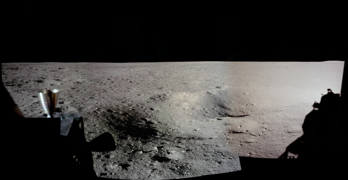 Panorama du site d\'atterrissage d\'Apollo 11