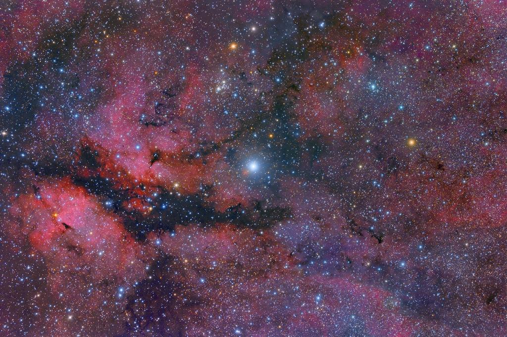 Paysage stellaire au centre du Cygne