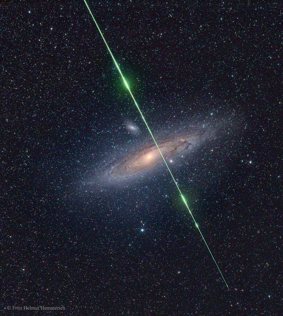 L\'étoile filante et la galaxie