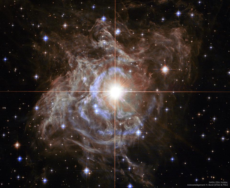 Aux environs de RS Puppis, étoile variable de type Céphéide