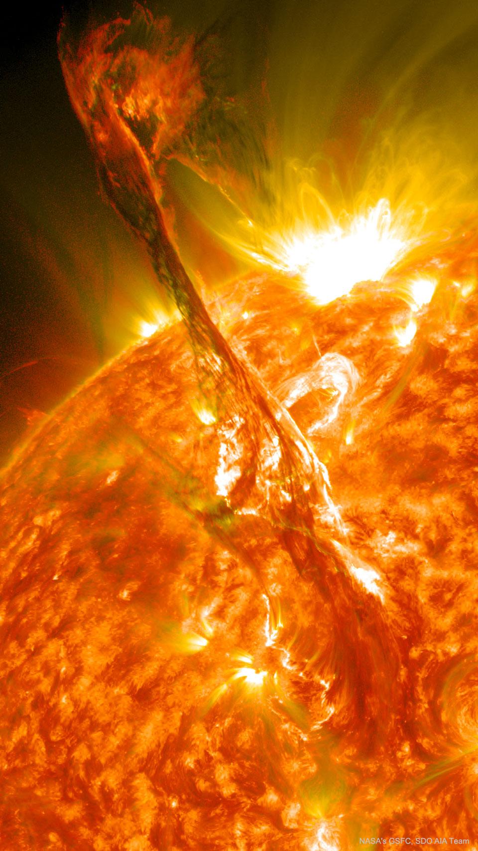 Eruption de filament solaire