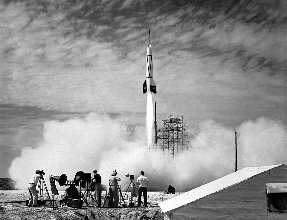 Le premier lancement de fusée à Cap Canaveral
