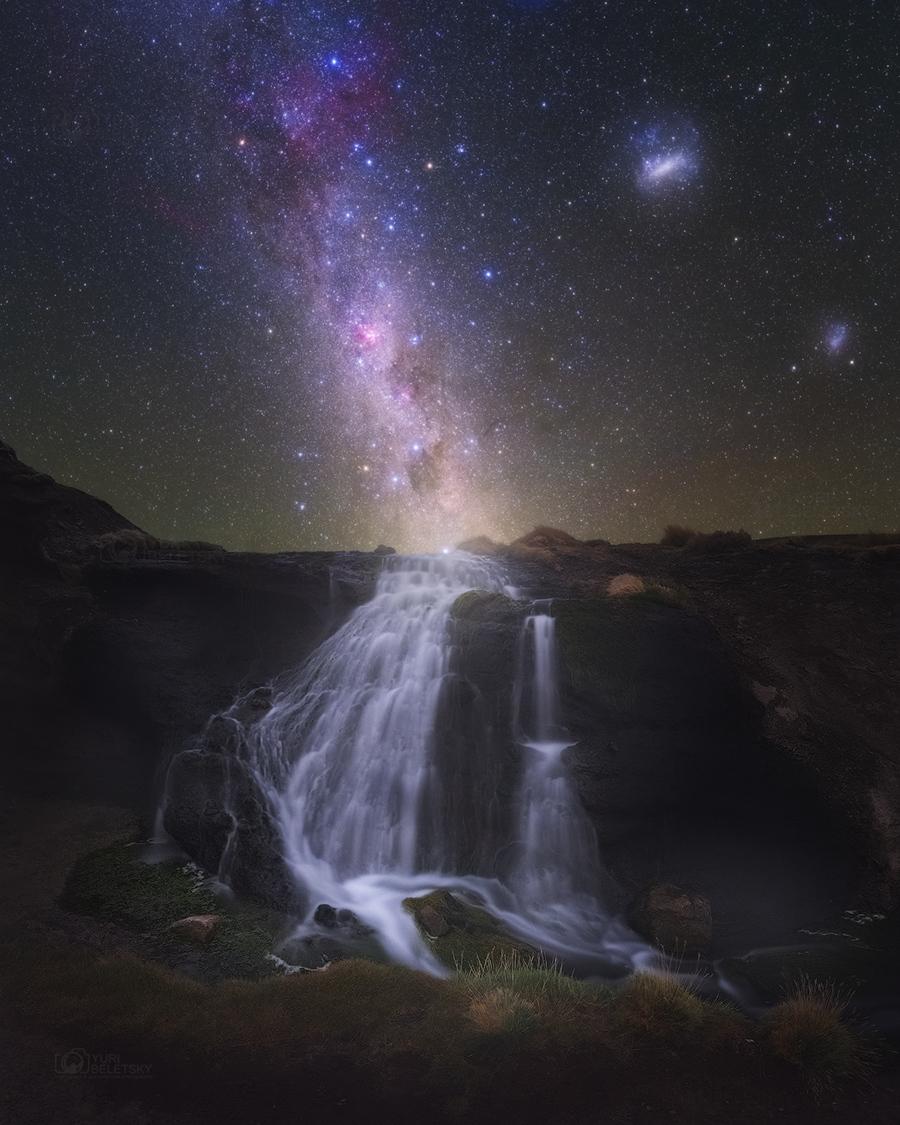 Les chutes d\'eau de la Voie Lactée
