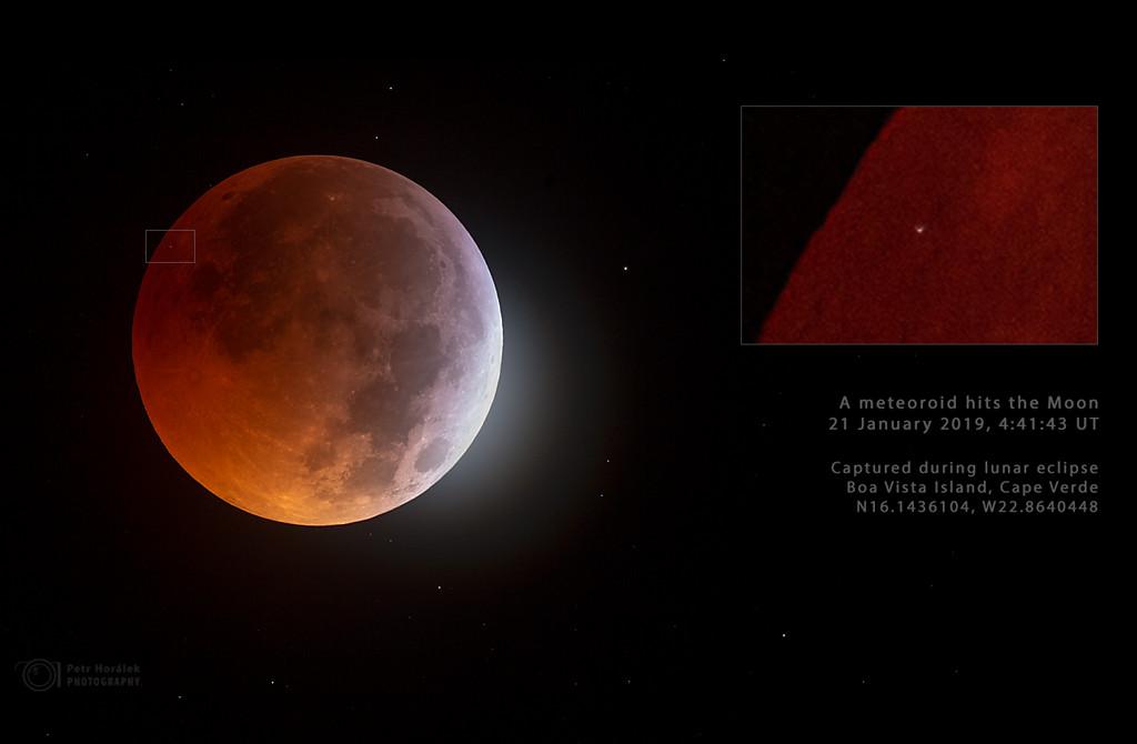 Frappe de météore contre la Lune
