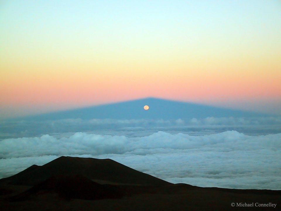 Lever de Lune dans l\'ombre du Mauna Kea