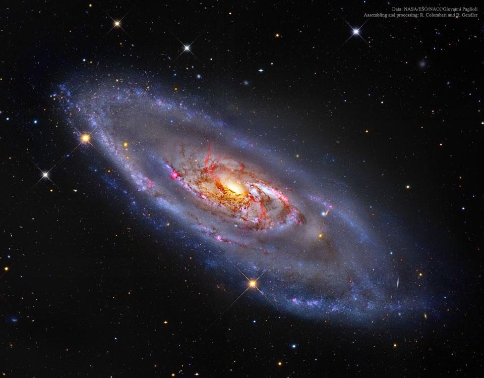 M106, une galaxie spirale avec un centre étrange