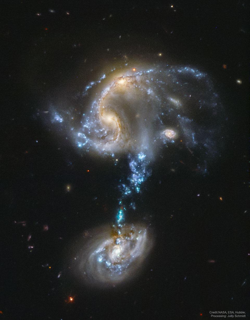 Arp 194, groupe de galaxies en fusion