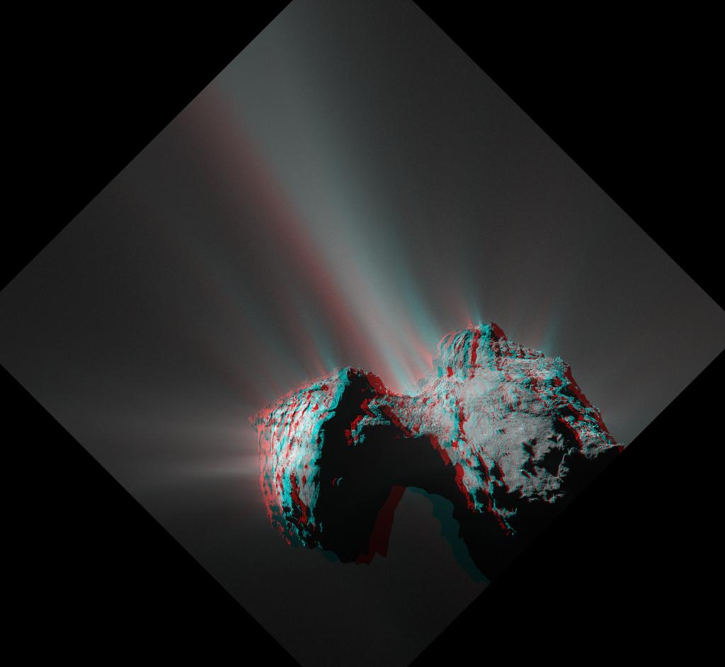 La comète 67P en 3D