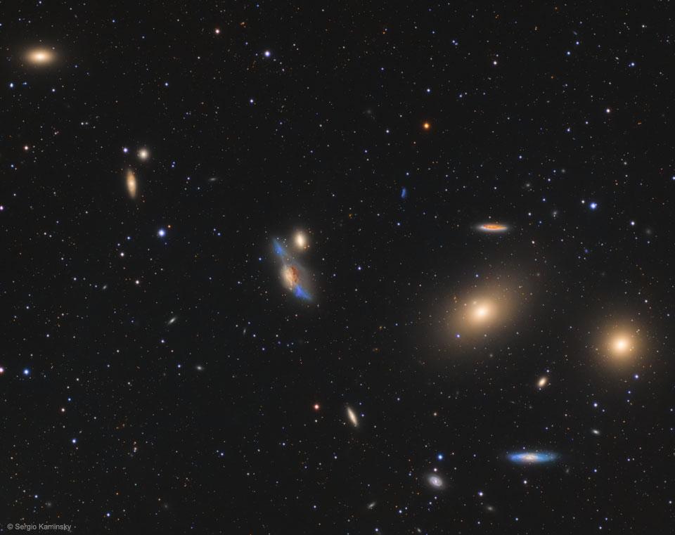 La chaîne de galaxies de Markarian