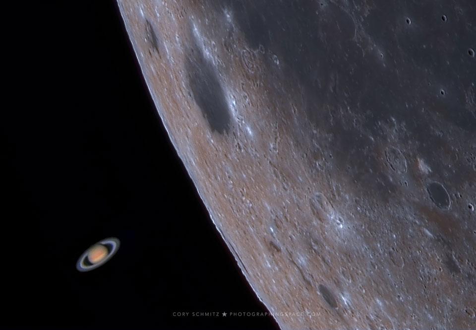 La Lune éclipse Saturne