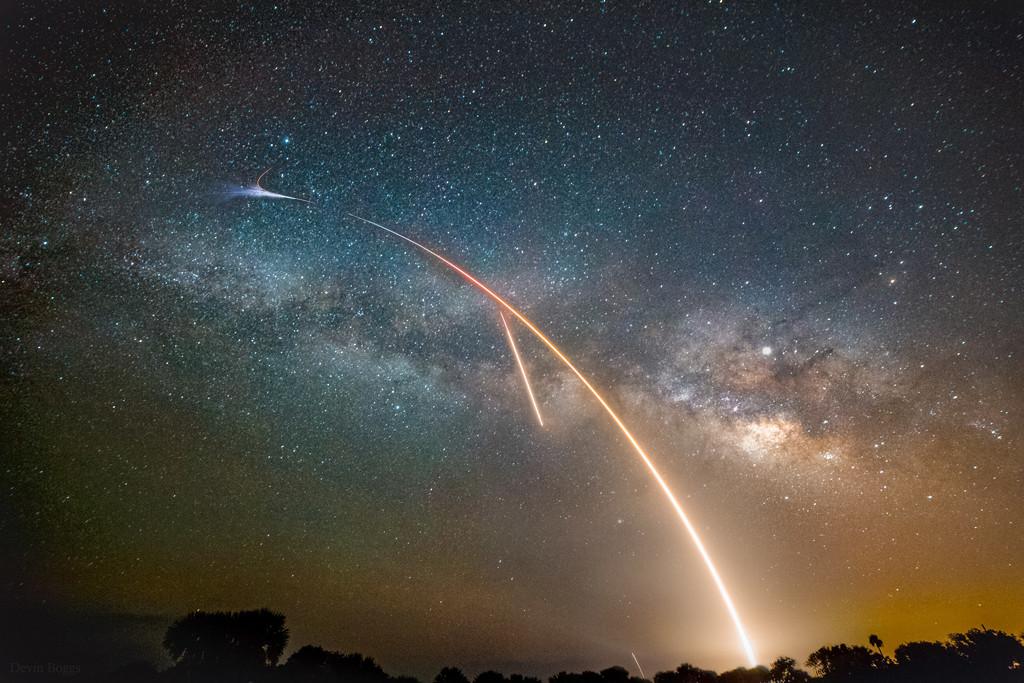 La Voie Lactée, un lancement et un atterrissage
