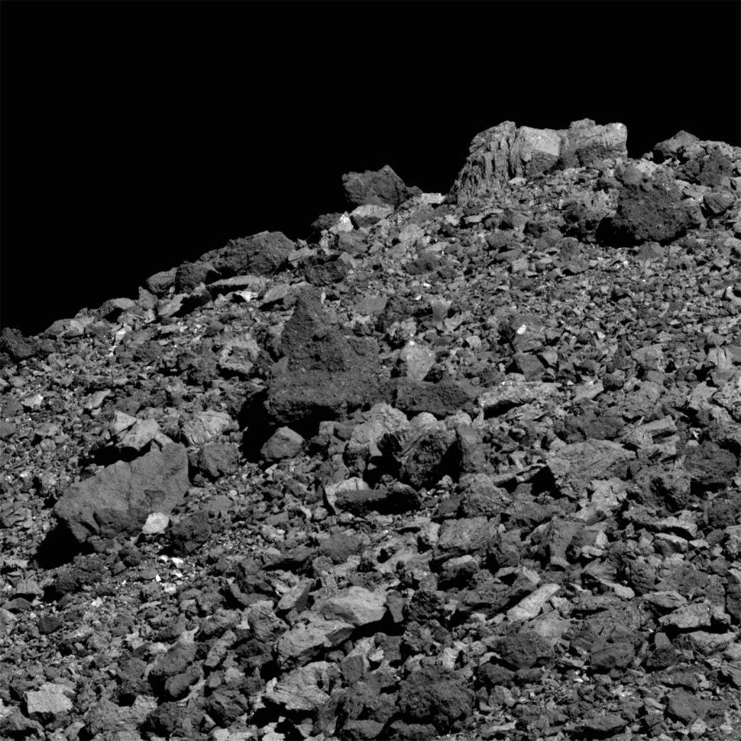 Rochers sur l\'astéroïde  Bennu