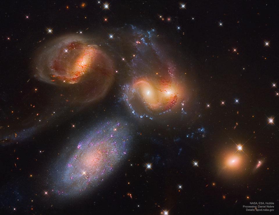 Le quintette de Stephan vu par Hubble
