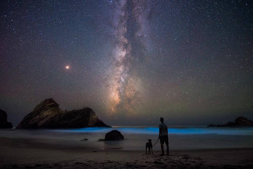Sur la plage, avec Mars