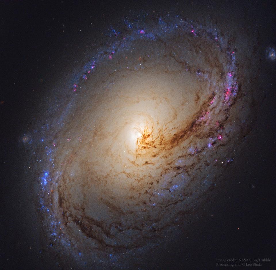 La galaxie spirale M96 vue par Hubble