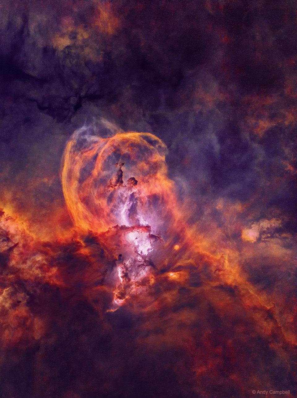 La région de formation d\'étoiles NGC 3582, vue sans ses étoiles