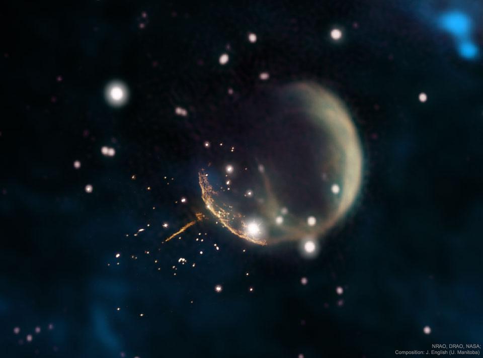 Une supernova expulse le pulsar J0002
