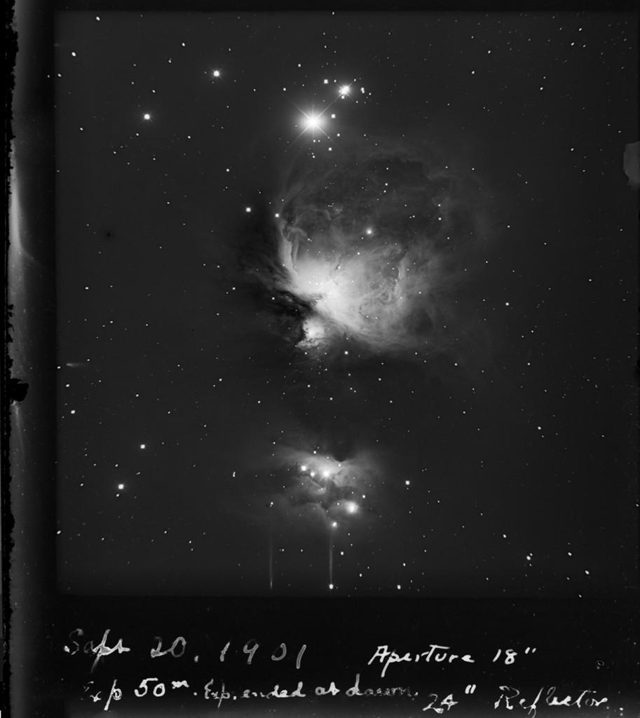 Une photographie de 1901 : la nébuleuse d\'Orion