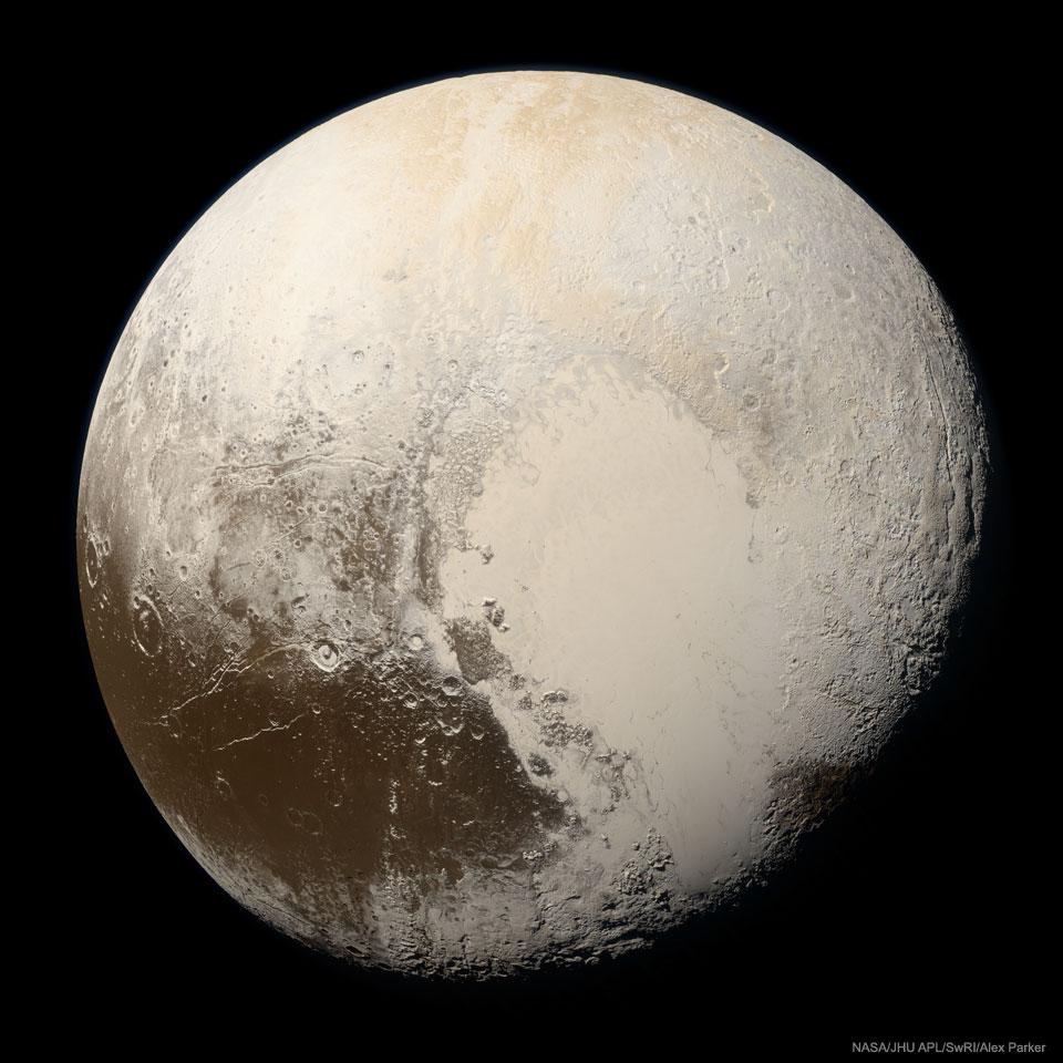 La vraie couleur de Pluton