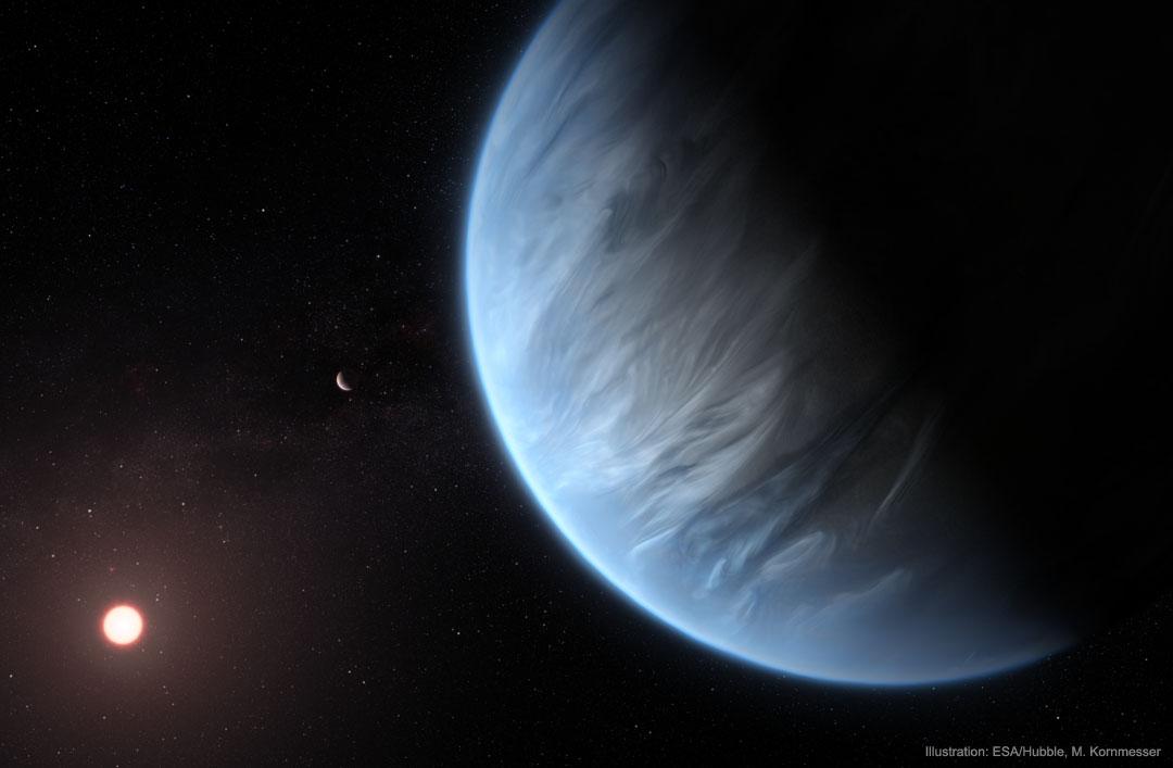Découverte de vapeur d\'eau dans l\'atmosphère d\'une lointaine exoplanète