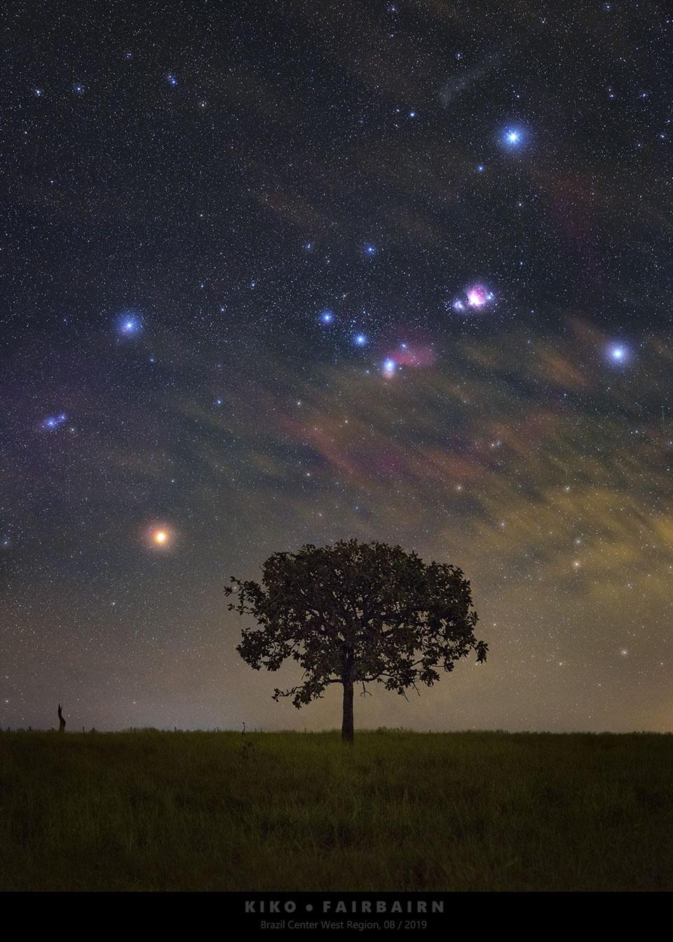 Orion se lève sur le Brésil