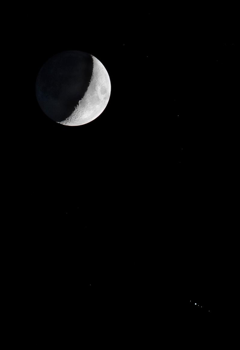 Jupiter et les lunes