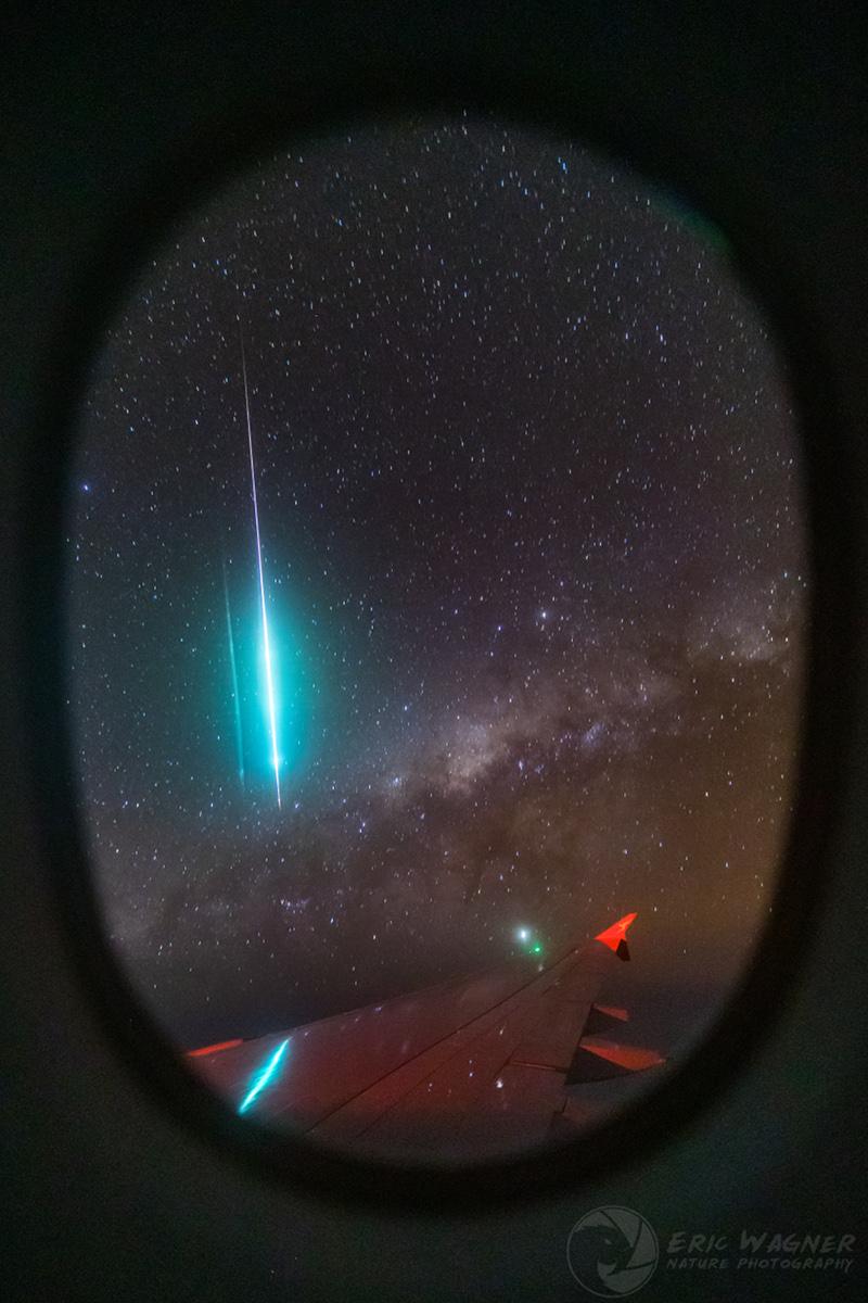 Etoile filante entre ciel et terre - Le 24 septembre dernier, un vol de nuit entre Singapour et l\'Australie a offert une vision stratosphérique à ses passagers.