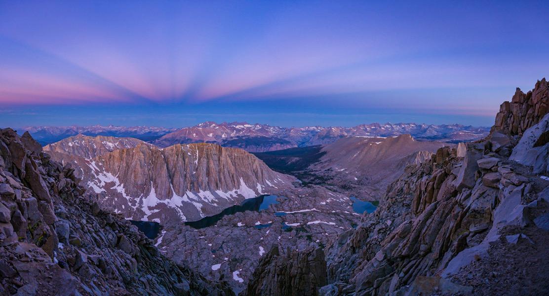 Les montagnes à l\'heure bleue