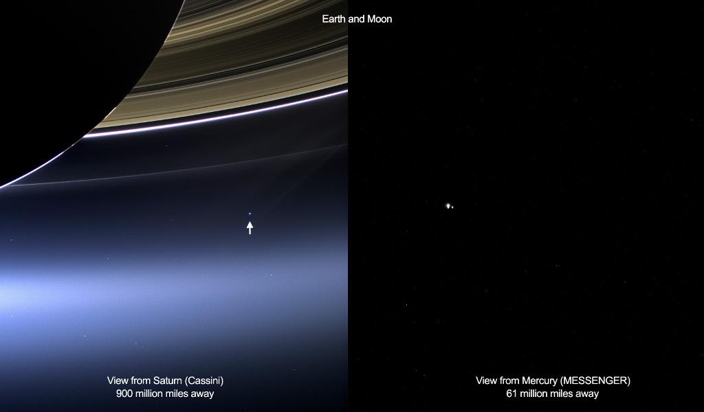 Lointains regards croisés sur la Terre et la Lune