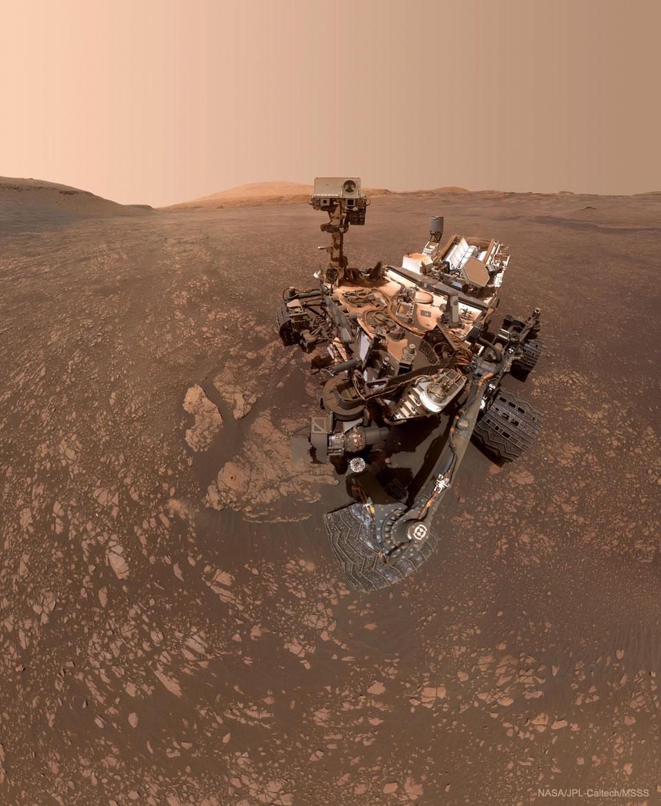 Curiosity découvre une poche d\'argile sur Mars