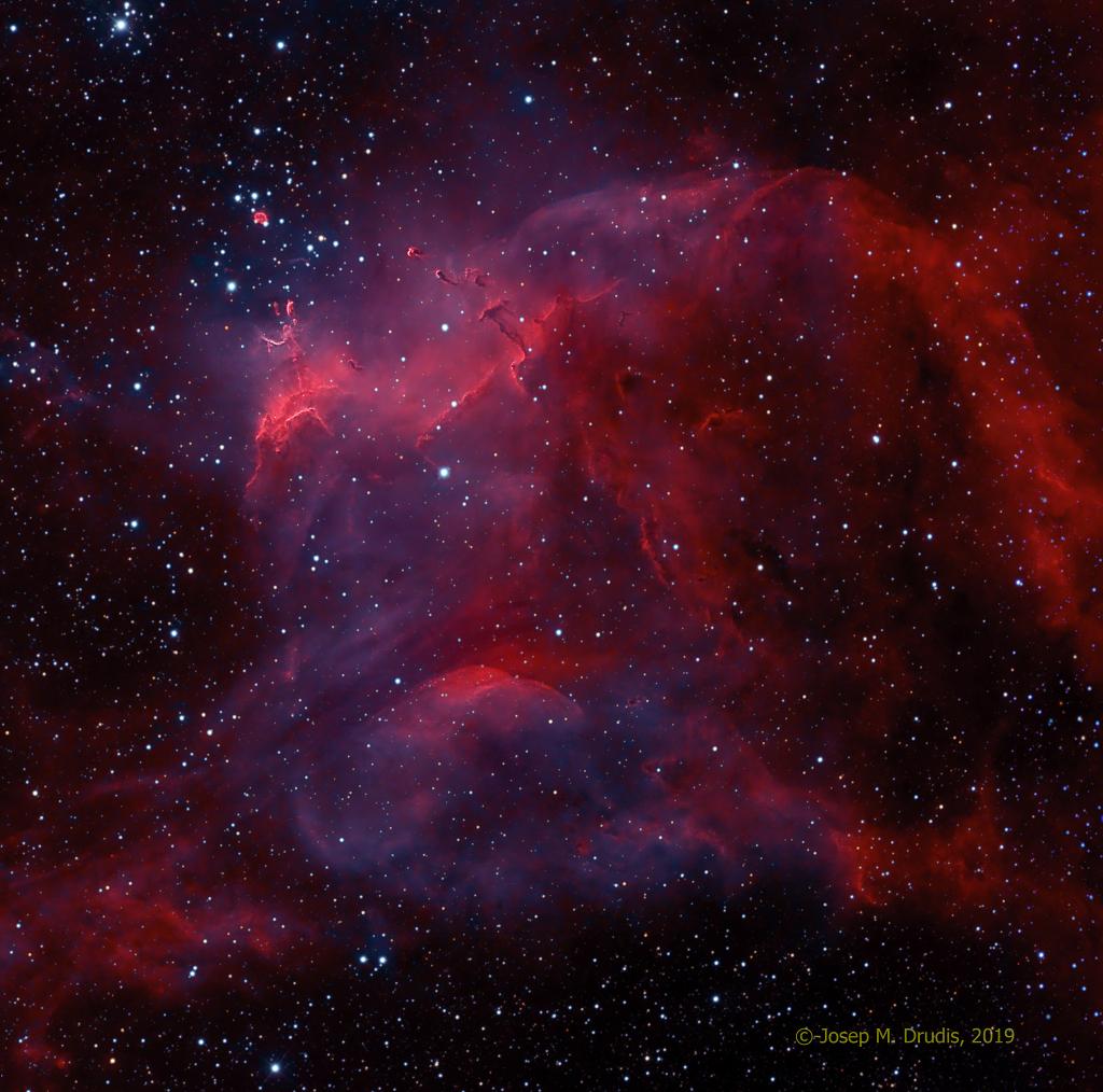 NGC 3572 et les têtards austraux