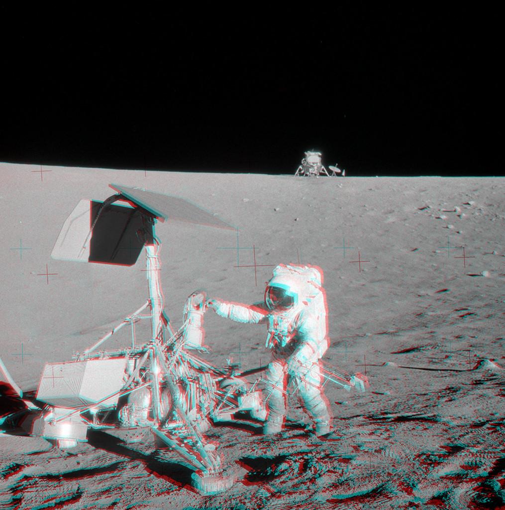 Apollo 12 visite Surveyor 3 en stéréo