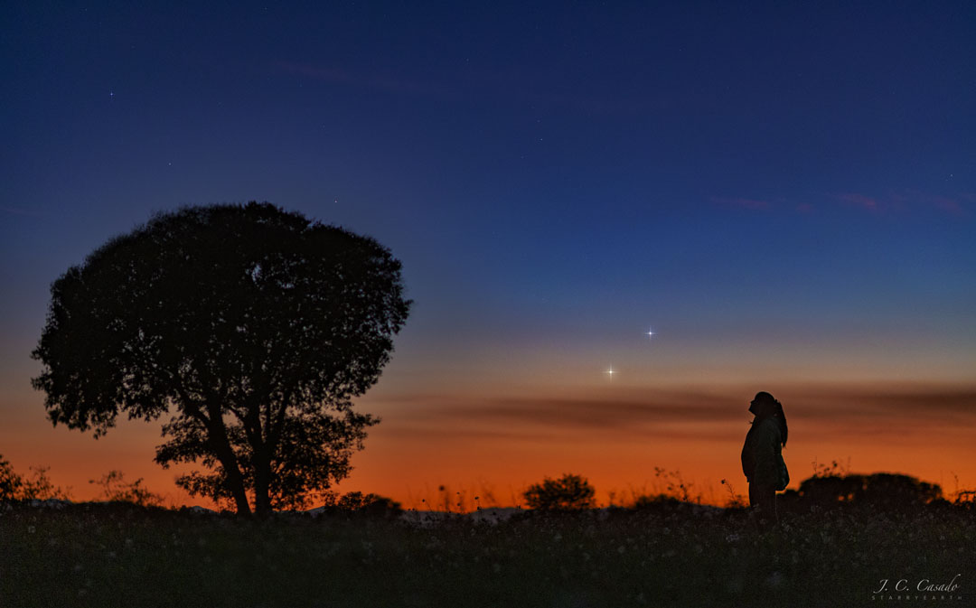 Vénus et Jupiter à l\'horizon