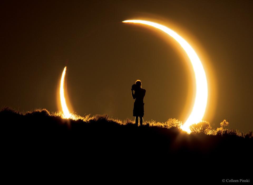 Eclipse annulaire sur le Nouveau-Mexique