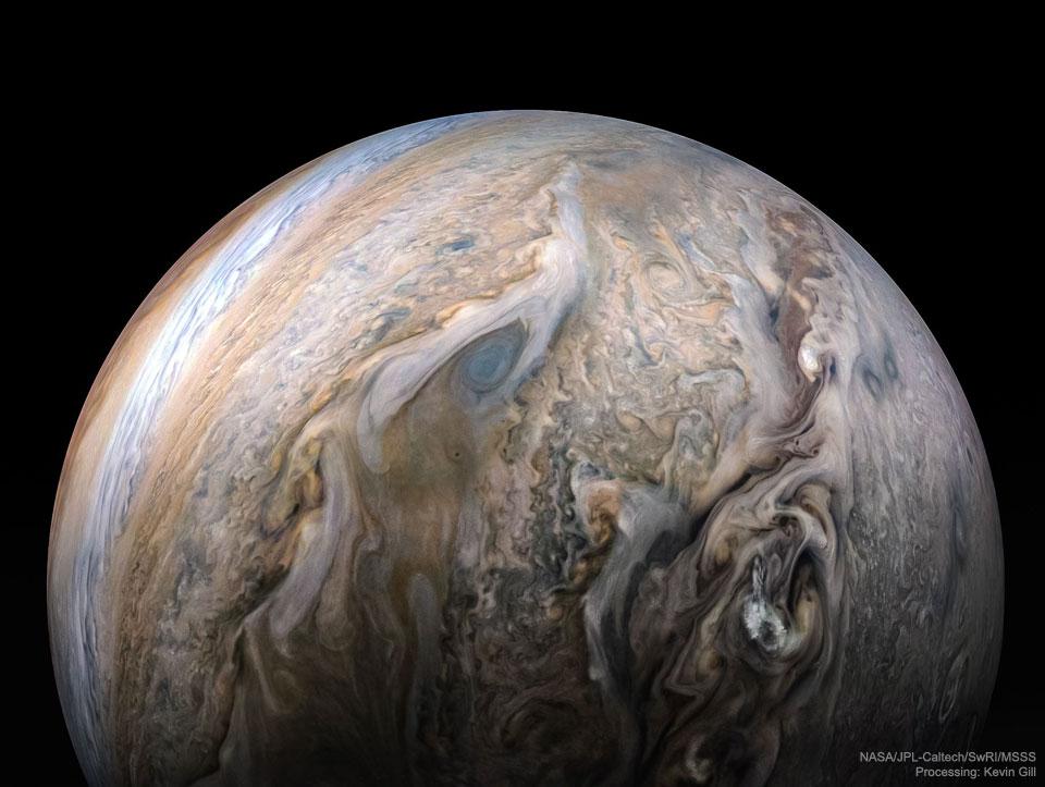 Nuées tumultueuses de Jupiter