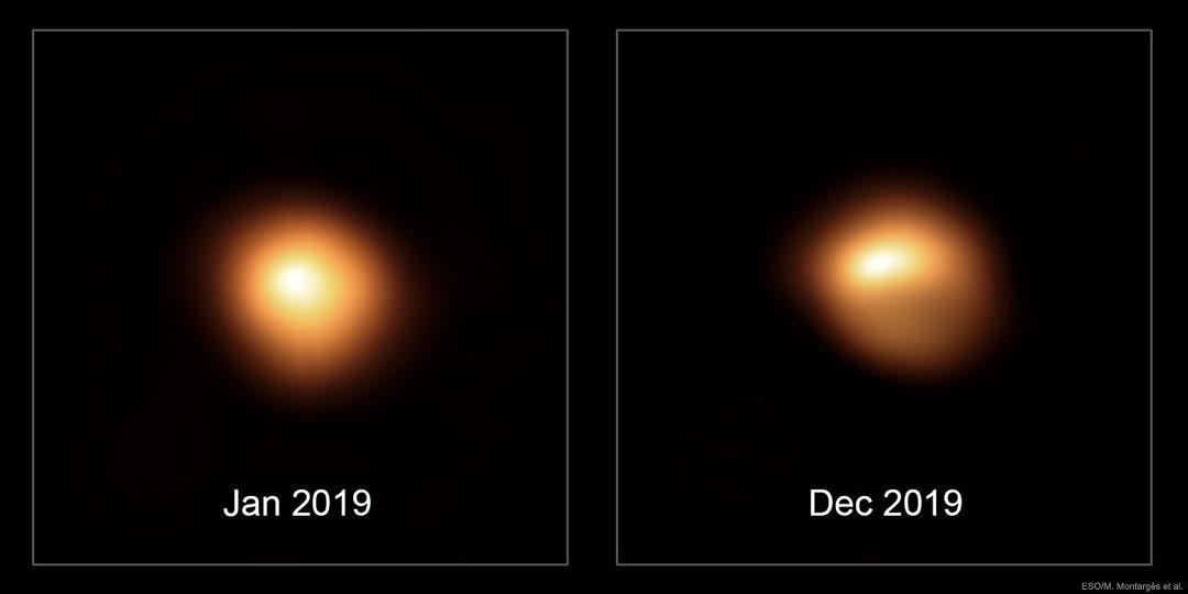 Regardez Bételgeuse changer