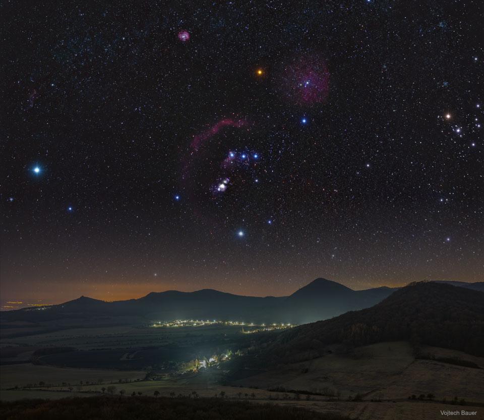 Orion sur les hauts-plateaux de Bohême centrale