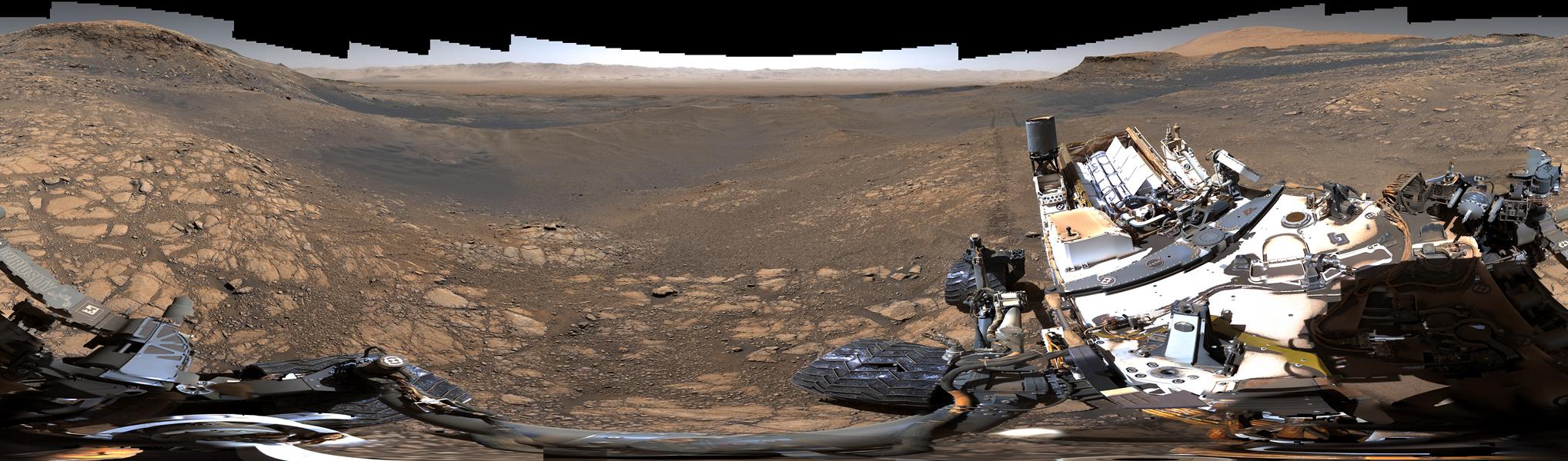 Panorama martien par Curiosity