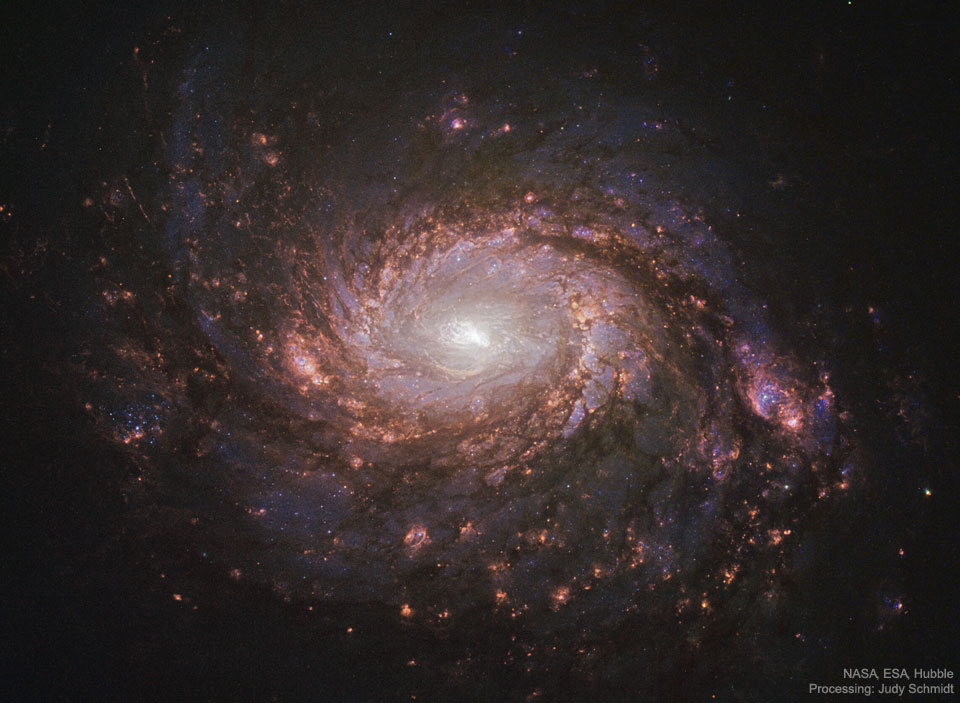 Une galaxie spirale à centre actif