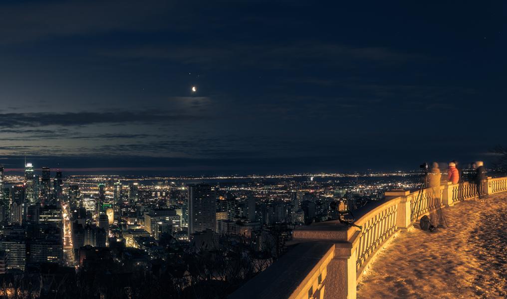 Conjonction planétaire sur Montréal
