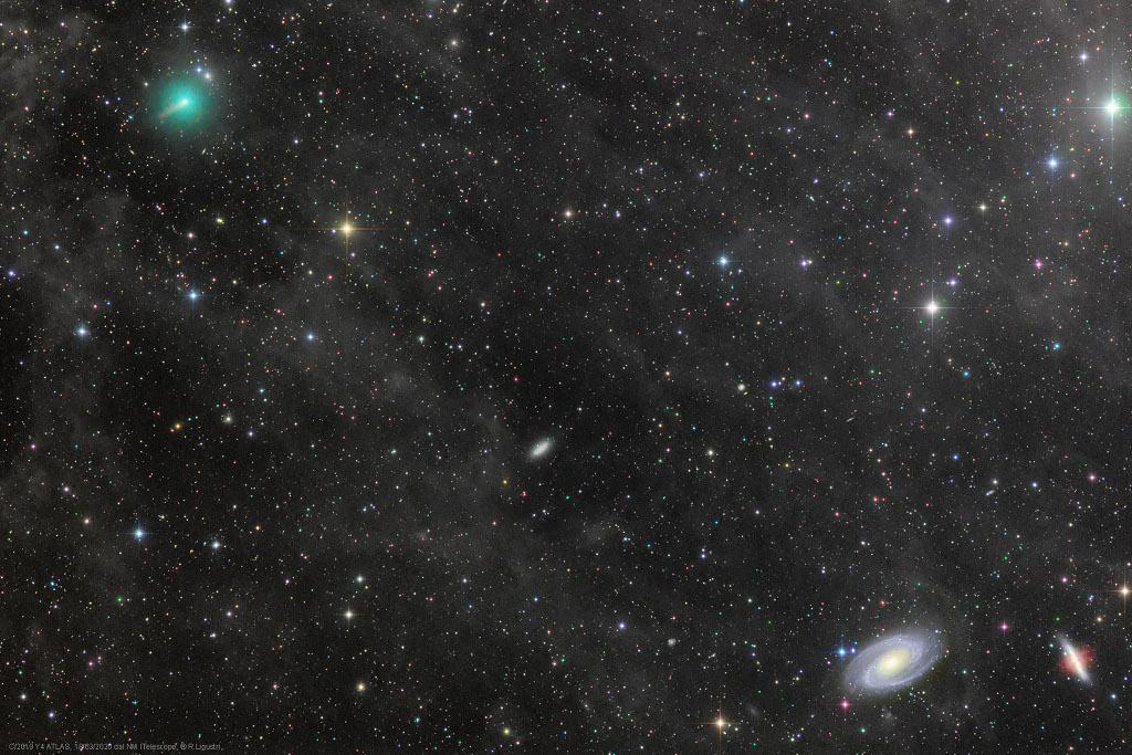 La comète ATLAS et les galaxies en guerre