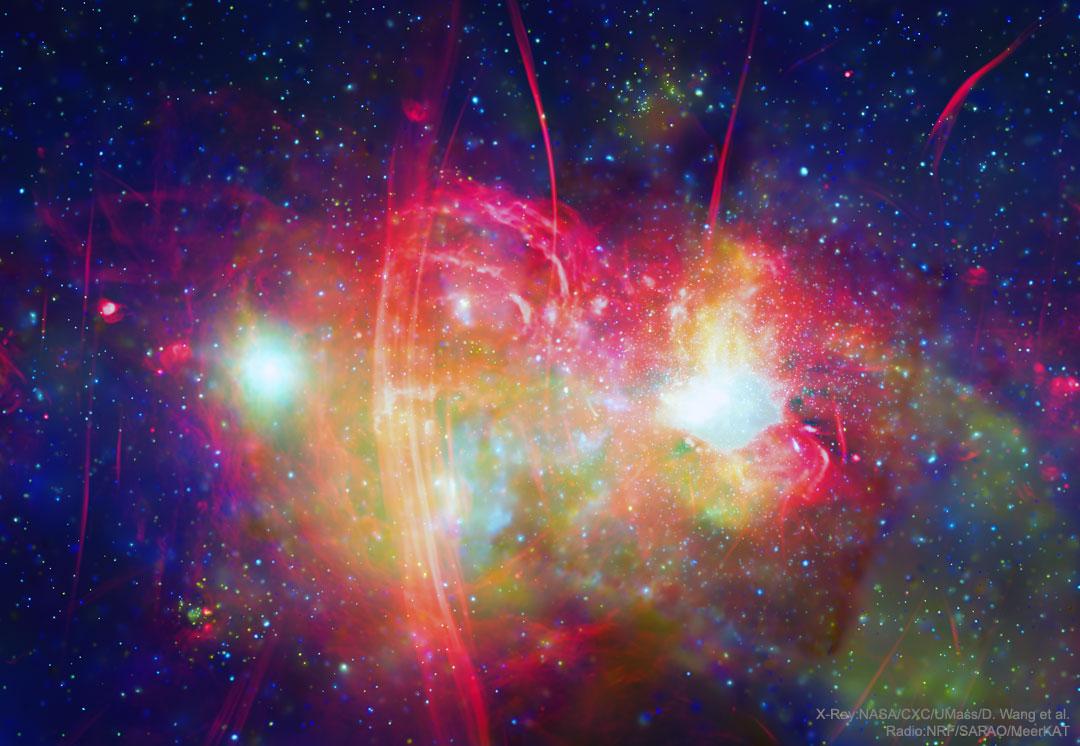 Le centre galactique en multispectral
