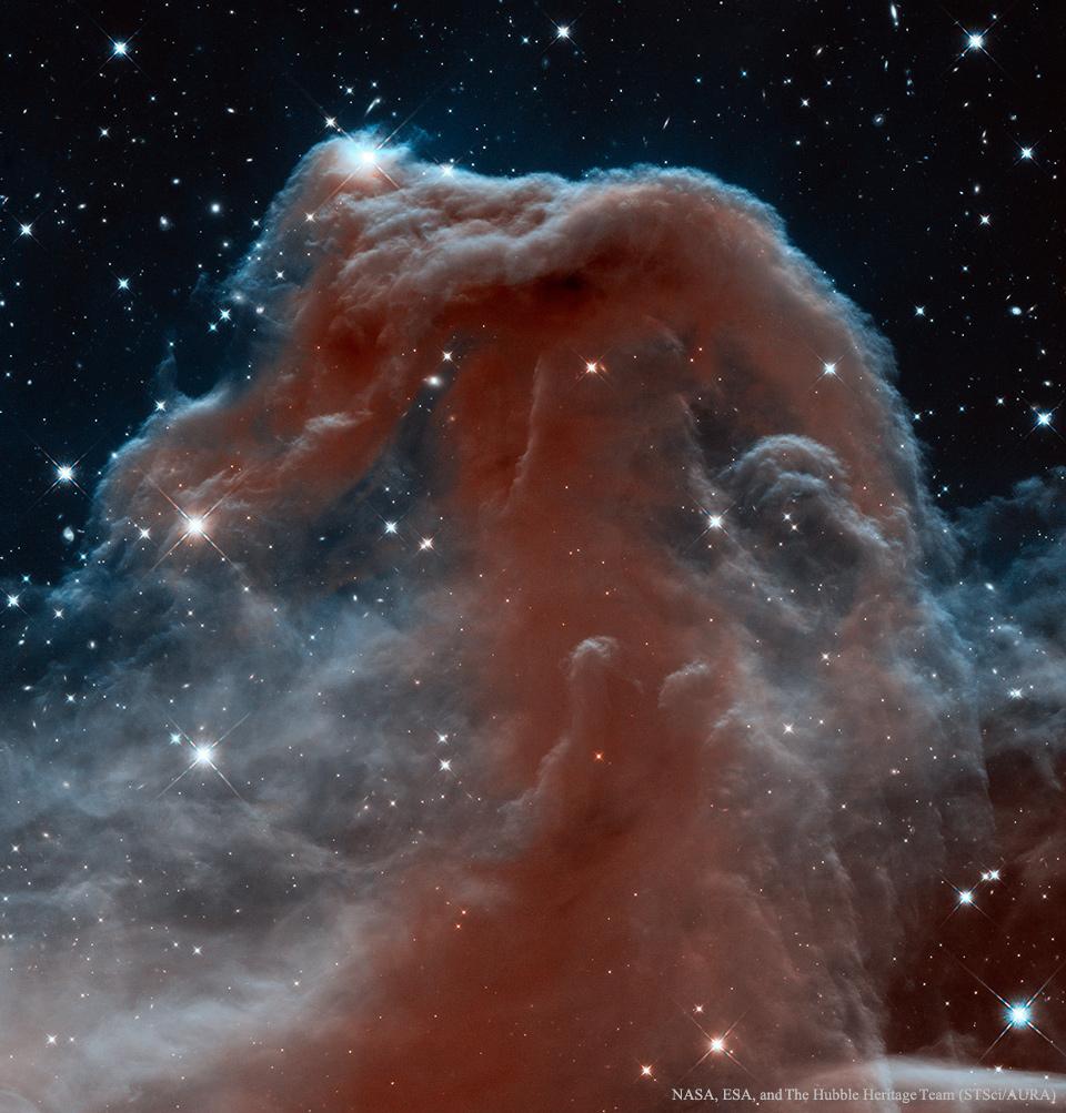La nébuleuse de la Tête de cheval en infrarouge par Hubble