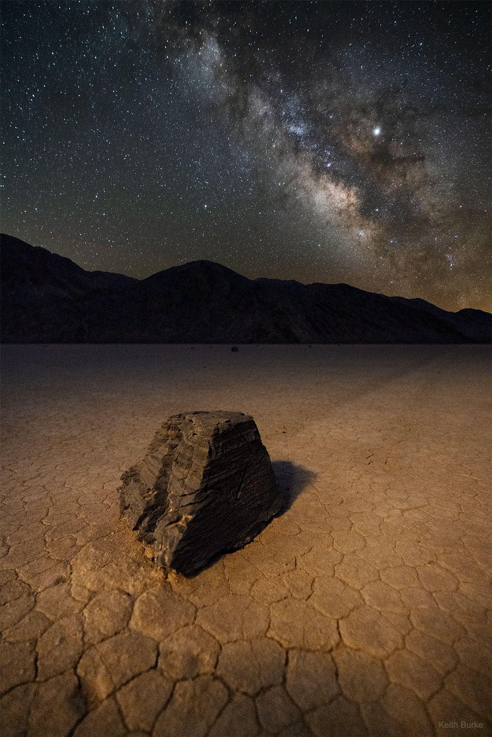 Les pierres glissantes de la Vallée de la Mort